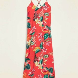NWT Old Navy Tropical Maxi Strappy Sundress M